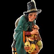 Royal Doulton Figurine HN 2103 The Mask Seller Retired Copyright 1952 Vintage