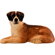Royal Doulton Dog Figurine Saint Bernard K19 Model Number 1097 St. Bernard