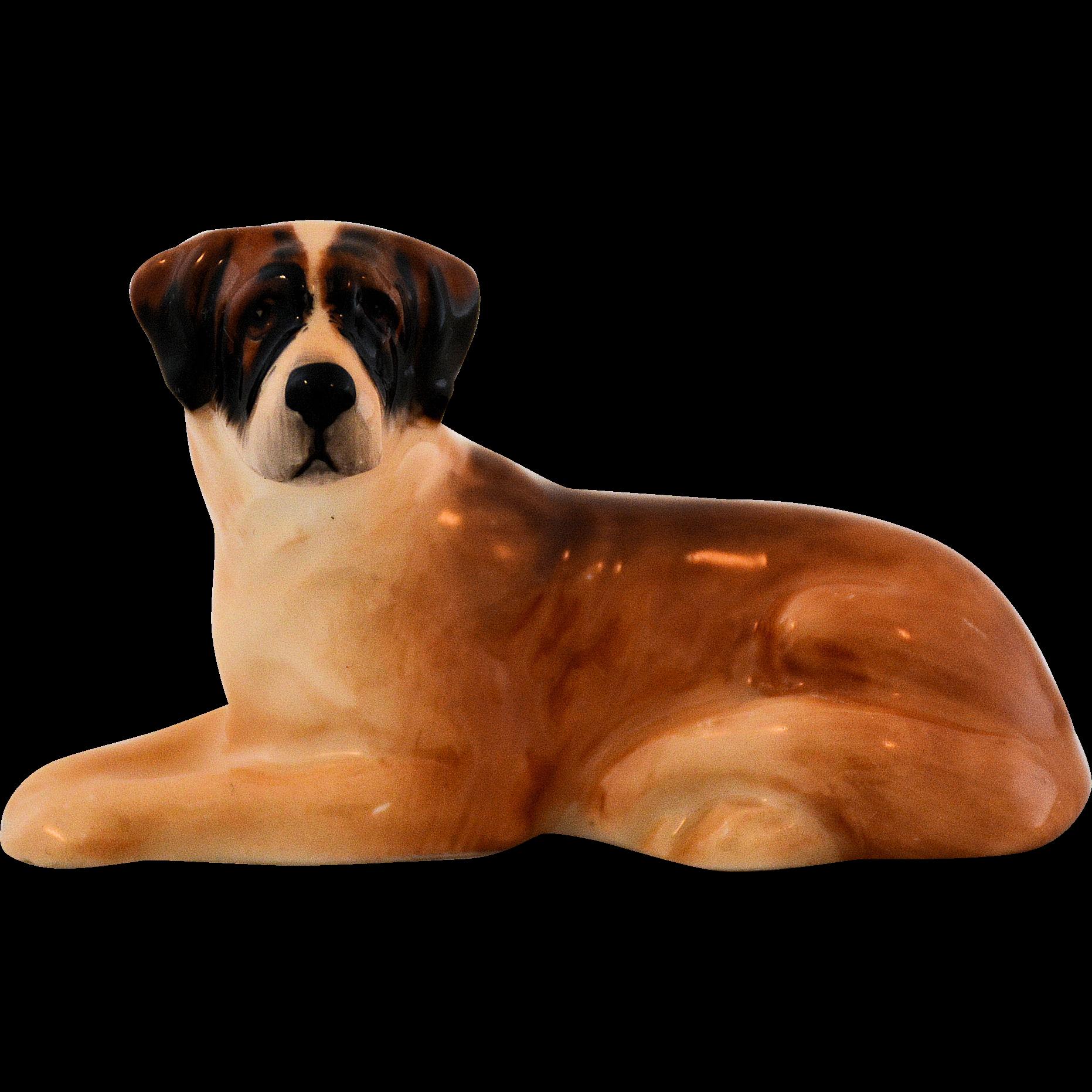 Royal Doulton Dog Figurine Saint Bernard K19 Model Number 1097 St. Bernard