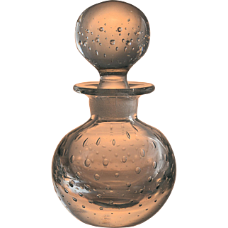 Vintage Pairpoint Perfume Bottle Controlled Bubble Glass