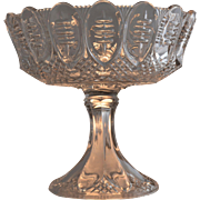 Antique EAPG Footed Compote Triple Thumbprint Pattern or African Shield, circa 1896