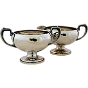 Vintage Sterling Silver Open Sugar Bowl Creamer Set 784 Weighted American Made Holloware