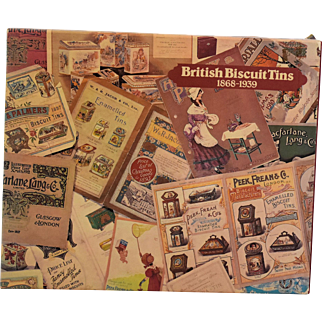 British Advertising Collectible Biscuit Tins Book by M.J. Franklin First Edition Copyright 1979