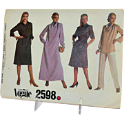 Vogue Sewing Pattern Very Easy 2598 Size 14 Misses Dress Belt Top Vogue Pattern Service Vintage