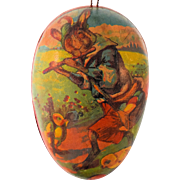 Antique German Easter Egg Candy Container Pied Piper Lithograph