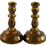 Antique Dollhouse Brass Candlesticks Miniature Doll House Candle Sticks Candleholders