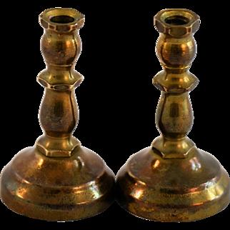 Antique Dollhouse Brass Candlesticks Miniature Doll House Candle Sticks Candleholders