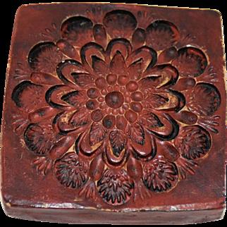 Vintage Flower Butter Mold Print Swiss Springerle Cookie Stamp Press Handmade Made in Switzerland
