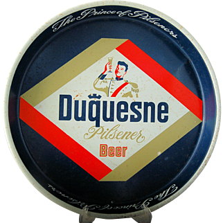 Vintage Advertising Beer Tin Duquesne Pilsener Beer Metal Serving Tray