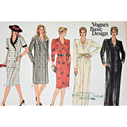 Vintage Vogue Coat Dress Sewing Pattern Basic Design 1178 Size 14 Misses