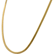 Vintage Napier Herringbone Gold Tone Chain Necklace Extra Long Twenty Four Inches