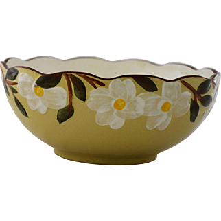 Vintage White Dogwood Large Serving Bowl by Stangl Pottery 10 Inches