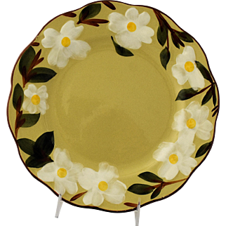 Vintage White Dogwood Dinner Plate by Stangl Pottery