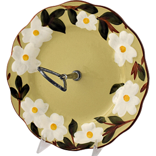 Vintage Stangl Pottery White Dogwood Tidbit Tray or Round Serving Plate