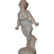 Antique Italian Porcelain Figure of Athletic Girl