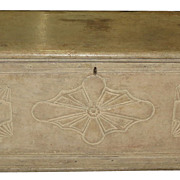 Antique 18th C Paint Decorated Blanket Hope Chest Swedish Style