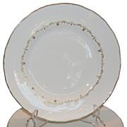 Set of 4 Royal Worcester Porcelain Gold Chantilly Plates