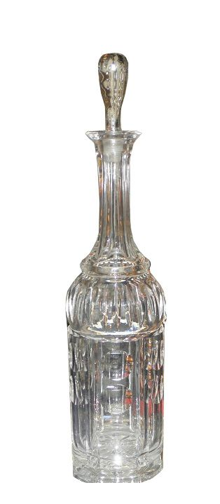 Unusual Antique Cut Crystal Bottle Decanter