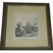 Rare Antique Yves & Barret Print - Actualites c.1850