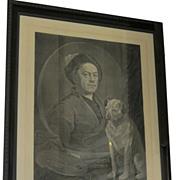 Rare Antique William Hogarth Engraving Dog Print - The Line of Beauty & Grace