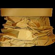 Spectacular Gold Amber Silk Roman Shade & Valance Window Treatment