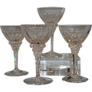 Set of 4 Royal Leerdam Starlight Scandinavian Crystal White Wine Stems