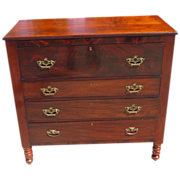 Antique 18th C American Mahogany & Rosewood Chest of Drawers