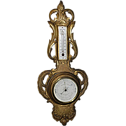 Antique 19th C Louis XV Style Gilt-wood Bourgeois Barometer