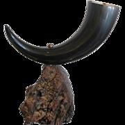 Unique Cornucopia Horn & Rootwood Object d'Art