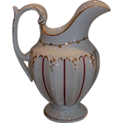 Fabulous Antique Coalport Porcelain Pink & Gold Cream Pitcher c.1820