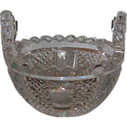 Spectacular Signed Waterford Master Cut Crystal Butter Cooler Bowl