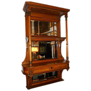 Superb Antique Portois & Fix Wien Hanging Bookshelf Whatnot