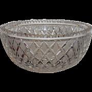 Classic Antique 19th C Irish Cut Glass Crystal Bowl
