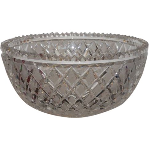 Classic antique 19th c irish cut glass crystal bowl from How can i cut glass at home