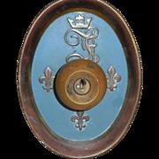 Rare Vintage Fontainebleau Hotel 1960s Monogrammed Bronze Doorknob Set