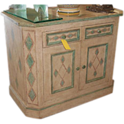 Superb Minton Spidel Designer Paint Decorated Commode Side Cabinet