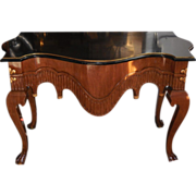 Charles Pollock Carved Venetian Designer Console Table w Ball & Claw Feet