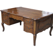 Vintage Designer French Provincial Partners Desk