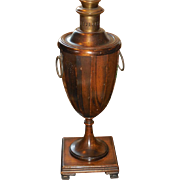 Unusual Vintage Frederick Cooper Wooden Canister Lamp