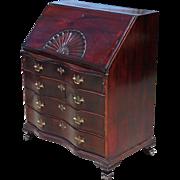 Antique Early 19C American Secretary Desk  by James Ingersoll of Salem, Mass