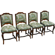 Superb Set of 4 French Provincial Designer Chairs