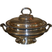 Superb Antique Silverplated Covered Serving Dish