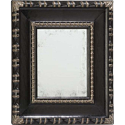 Superb Kneedler Fauchere Ebony & Silver Designer Mirror by Gregorius Pineo