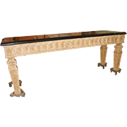 Spectacular Huge Formations Dennis & Leen Designer Console Table w Black Granite Top