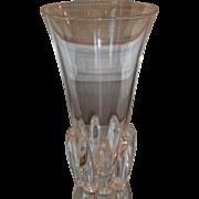 Big Unusual Signed Steuben Crystal Vase