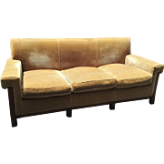 Exquisite Nancy Corzine Art Deco Designer Mohair Sofa