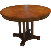 Signed Baker Furniture Company Round Center or Breakfast Table