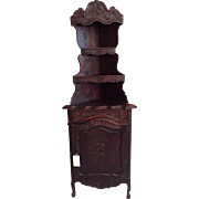 Superb Antique French Provincial Corner Cabinet