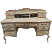 Fine Italian Designer Paint Decorated Writing Table Desk