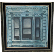 Original Architectural Oil Painting by Listed California Artist Carl Broderick